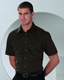 SHORT SLEEVE TENCEL FITTED SHIRT
