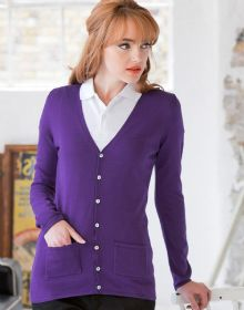 11be7a2a2b Go down the page to 1) add your design positions   2) add your details to  get your instant quote. H723 Ladies V Button Cardigan